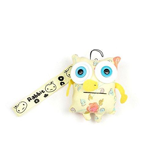 Schlüsselanhänger aus Stoff gelbes kleines Monster