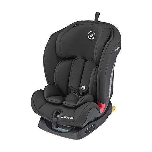 Maxi-Cosi Titan, mitwachsender Kindersitz mit ISOFIX und Ruheposition, Gruppe 1/2/3 Autositz (9-36 kg), nutzbar ab ca. 9 Monate bis ca. 12 Jahre, basic black, schwarz