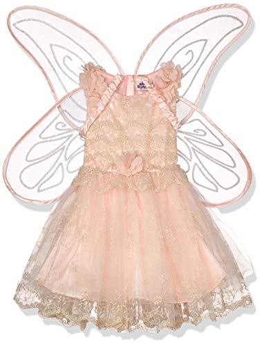 amscan- Classic Peach Fairy Costume with Detachable Glitter Wings-Age 6-8 Years-1 PC Disfraz clásico de Hada de melocotón con alas Desmontables de Purpurina – 6 – 8 años – 1 Unidad. (9905939)