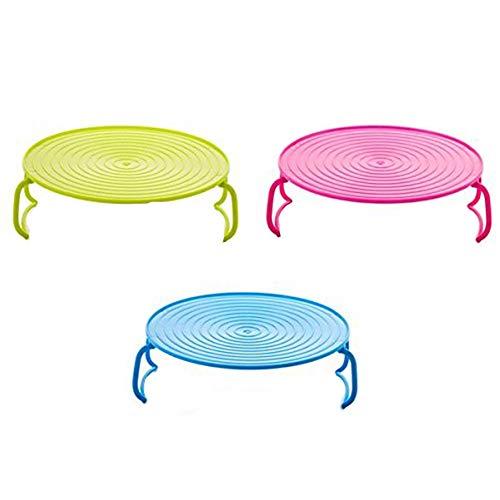Fablcrew 1 x Doppel-Halterung für Teller, Mikrowelle, Tablett, Gitter, Kunststoff, für Backofen, Tablett, Farbe zufällig