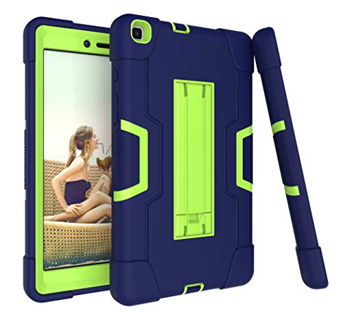Galaxy Tab A 8.0 Case 2019, Bingcok Heavy Duty Rugged Full-Body Hybrid Shockproof Drop Protection Cover with Kickstand for Samsung Galaxy Tab A 8.0 2019 Model SM-T290 /SM- T295 (5-Navy)