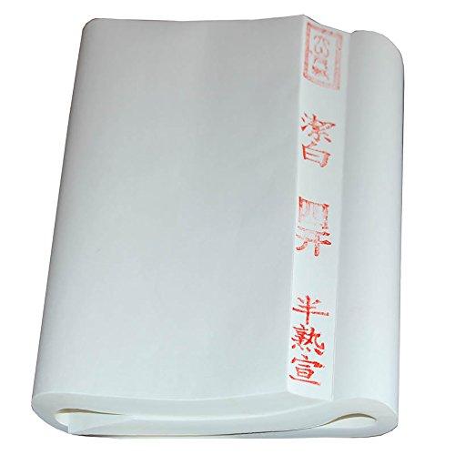 BCQLI Chinese Xuan Paper/Quarto Four feet/Half Ripe Rice Paper,Brush Calligraphy Dedicated