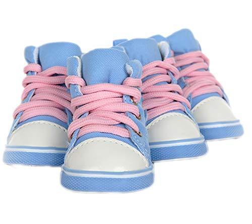 XIAO XIONG puppy schoenen zomer voetset teddy dan beer lente en herfst huisdier kleine middelgrote hond waterdichte regen schoenen nummer 3 lichtblauw-3