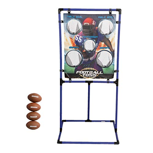 Sport Squad Target Toss Game Set - Choose Either Football Toss or Baseball Toss - Portable Indoor or Outdoor Design for Cookouts, Tailgates, or Backyard Fun - Includes 4 Balls - Easy Assembly , Multi