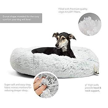 Puppy Love Panier Chien, Couffin Chien Lavable, Coussin Chien Anti Stress XXXL Dehoussable,Paniers Et Mobilier pour Chiens, Lit Moelleux Rond pour Chien, Lavable, Confortable