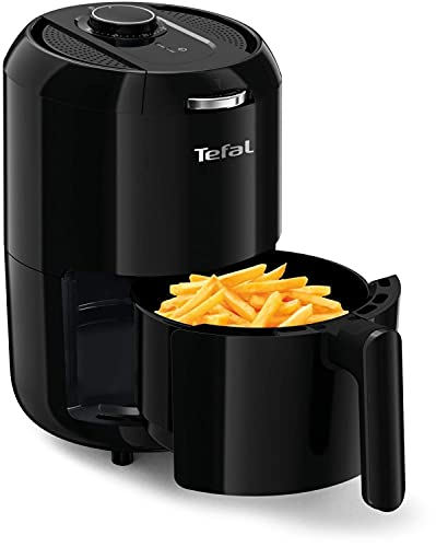 Tefal Easy Fry Compact Heißluftfritteuse Fritteuse, 1030W, 400g Kapazität sowie 1,6 Liter perfekt für kleine Haushalte, 30-Minuten-Timer, fryer, Ohne Fett Öl, automatischer Ausschaltfunktion und Alarm