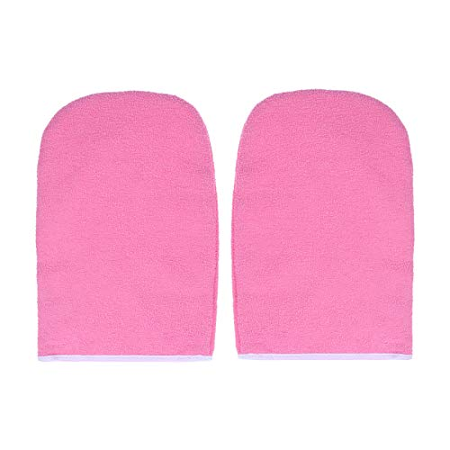 FRCOLOR 1 Paar Paraffinwachs Bad Handschuhe Frottee Handschuhe Wachs Pflege Isolierte Handschuhe Wärmetherapie Spa Behandlung Bräunung