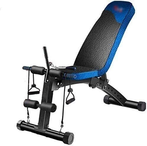 BATOWE Weight Bench Gym Equipment Exercise Adjustable Weight Bench Home Training Gym Weight Lifting Dumbbell Bench Abdominal Board Adjustable Home Supine Board Exercise Bench Workout Bench