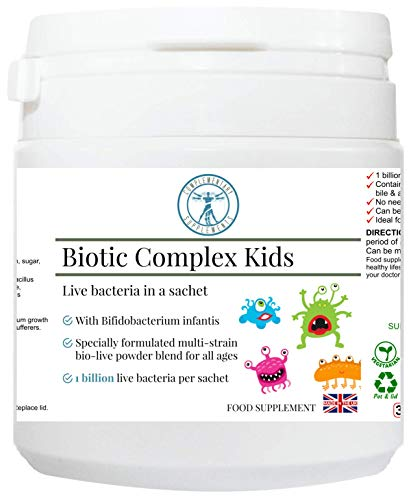 Complementary Supplements | Biotic Complex Kids | Prebiotic & Probiotic for Children with Bifidobacterium Infantis | 7 strains of Beneficial Bacteria | no Taste | Digestive Support | 30 sachets