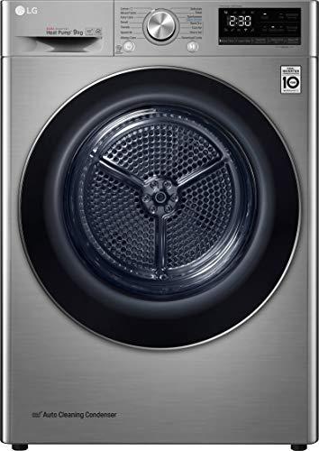 LG Electronics FDV909S Freestanding Heat Pump Tumble Dryer 9KG 53RPM Graphite