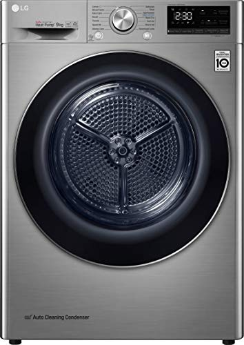 LG V9 FDV909S Wifi Connected 9Kg Heat Pump Tumble Dryer - Silver - A+++...