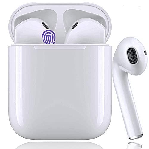 Auriculares Bluetooth Auricular Inalámbrico 5.0 Reducción Activa de Ruido HiFi Stereo Auricular Control tactil Deportivos Impermeables IPX7 Auriculares con Caja de Carga para Android/iOS/Samsung