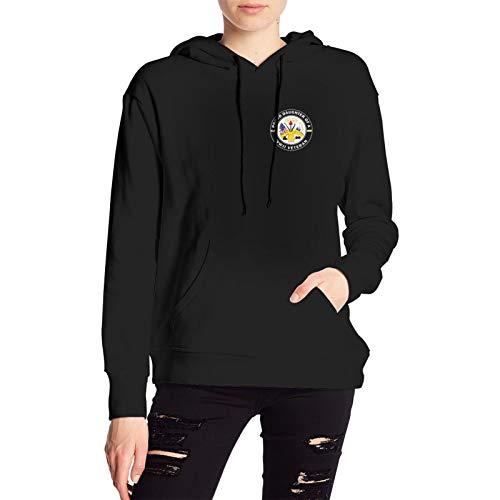 RUIANSHISHENGYOUDA Us Army Veteran Daughter3 Womens Pullover Coat Loose Shirt Knittinggirls Hoody Black