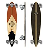 Yocaher Earth Series (Mountain) Complete Pintail Skateboards Longboard w/Black Widow Premium 80A Grip Tape Aluminum Truck ABEC7 Bearing 70mm Skateboard Wheels
