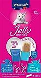 Vitakraft - Jelly Lovers, Snacks de Gelatina para Gatos, Variedad Salmón y Platija - 6 Unidades x 15 g