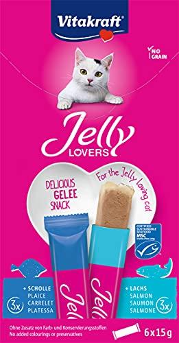 Vitakraft Jelly Lovers Snack pour Chat en Gelée au Poisson Boîte de 6 Sachets de 15 g