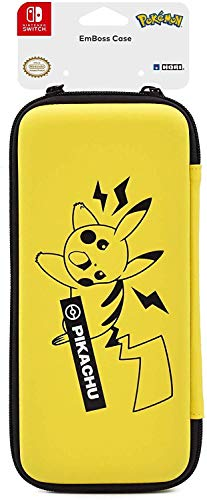 Hori Pikachu Emboss Case - Officially Licensed By Nintendo & Pokemon - Nintendo Switch