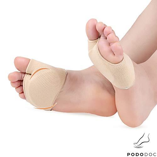 Vorfußbandage gepolstert, Schmerzlinderung und Druckentlastung bei Metatarsalgie, Spreizfuß, Ballenschmerzen, verhindert Schwielen und Hornhautbildung sowie Hühneraugen im Vorfuß