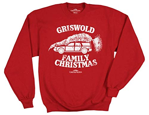Ripple Junction National Lampoon's Christmas Vacation Griswold Family Xmas Adult Sweatshirt Small Red