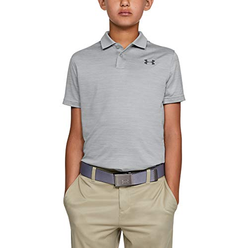 Under Armour Boys' Performance 2.0 Golf Polo, Mod Gray Light Heather (011)/Pitch Gray, Youth Small