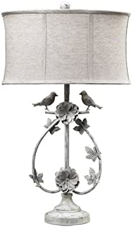 Dimond 113-1134 Linen Shade French Country Two Birds Iron Table Lamp