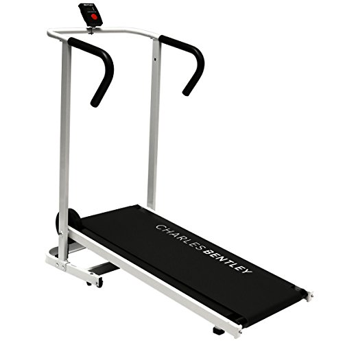 Charles Bentley Non-Motorised Treadmill Folding Running Incline Self Powered