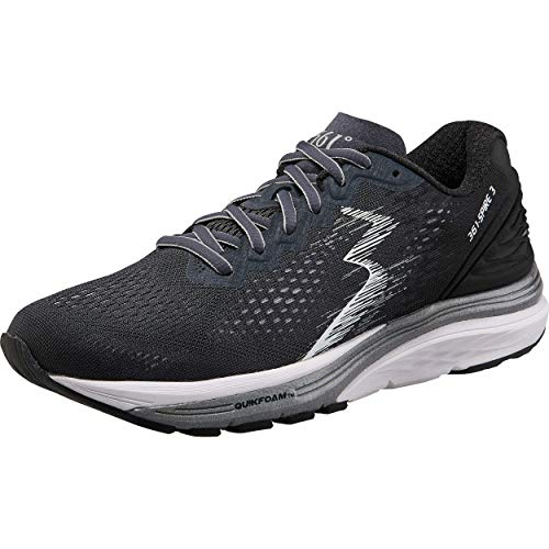 361 Degrees Women's Spire 3 High Performance and Mileage Lightweight Running Shoe, Ebony/Black, 8.5 M US