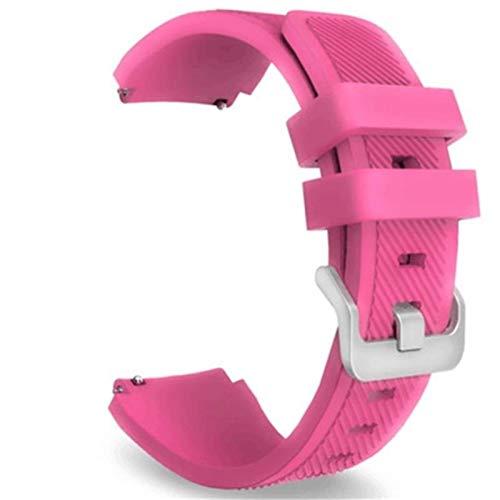 AiKoch Remplacement Coloré Silicone Poignet Bande Bracelet for Samsung Gear S3 Classique Frontier Wristband for La Course De Remise en Forme Substitute (Color : Pink)