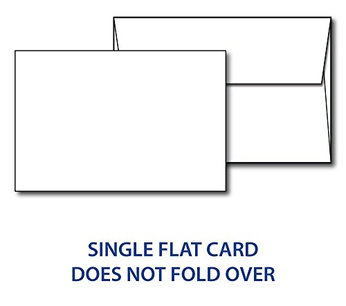 4' x 6' White Cardstock - Blank Stock for Invitations, Index or Note Cards - Heavy 80lb Cover Inkjet/Laser Printer Compatible (40 Cards with Envelopes)