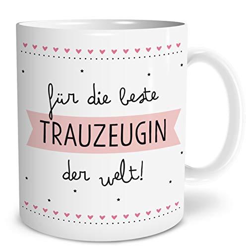 Beste Trauzeugin Große Kaffee-Tasse mit Spruch im Geschenkkarton Geschenke Geschenkideen für Trauzeugin zur Hochzeit