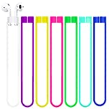 ABCOOL Compatible with Anti-Lost Straps Accessory AirPods 1 2 Pro - 7 PCS Colorful Assorted Strings, Soft Sport Tether Lanyard, Running Silicone Wire Cable Connector, Silica Gel Neck Rope Cord