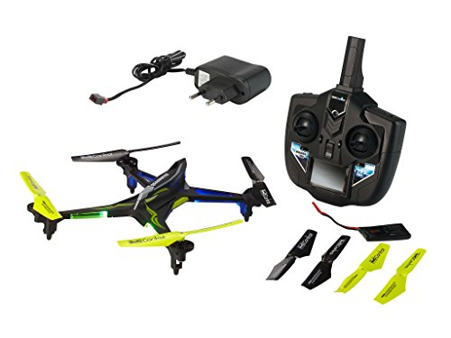 Revell Control RC Quadrocopter, ferngesteuert mit 2,4 GHz Fernsteuerung, 780 mAh Akku, schnell und wendig, Geschwindigkeisstufen und Flip-Funktion, Headless, LED-Beleuchtung, robust, QUADROTOX 23914