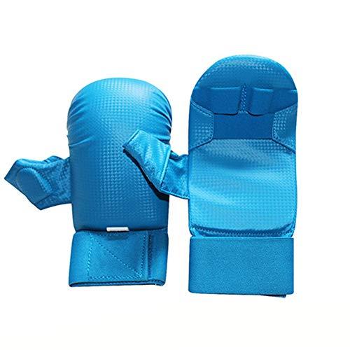 Cnwang Karate-Handschuhe Karate-Handschuhe Junior Vollkontakt-Karate-handschutzhandschuhe,Blau,L