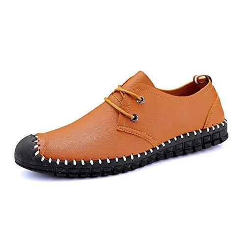 CAIFENG Mocasines de conducción for Hombres Zapatillas de Barco Lace Up Microfiber...