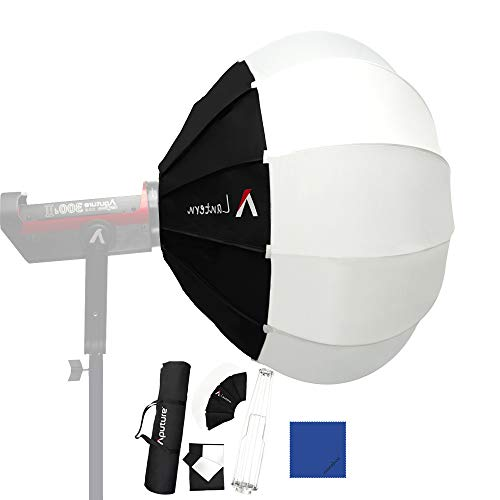 Aputure Lantern Softbox Soft Light Barndo/Modifier per Aputure 120D 120T 120D Mark II 120T 300D Mark II anand other Bowens Mount Light, Run-and-gun Light Diffusore morb