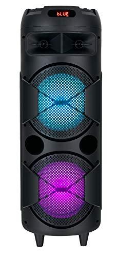 Beatfoxx PBS-835 Thundertube Bluetooth Lautsprecher - Mobile DJ/PA Anlage mit Karaoke Funktion - Integrierter 2200 mAh Akku und Lichteffekte - USB/SD Slots mit Aufnahmefunktion - 60W Verstärker