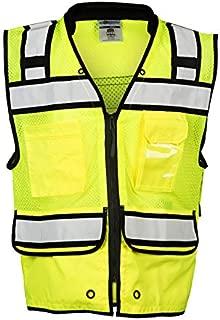ML Kishigo S5004 Class 2 Lime Performance Surveyors Vest with Zipper (Size-XL)
