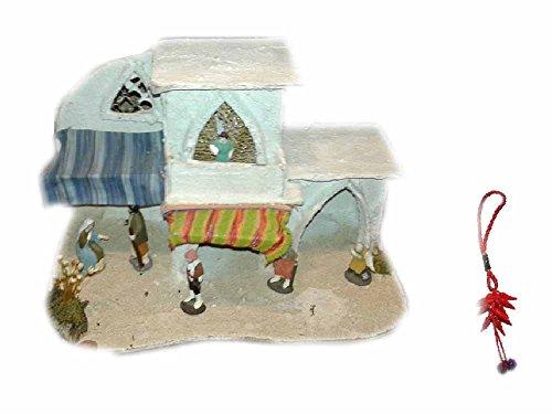 Presepe completo sughero e legno napoletano STILE ARABO per pastori 5,6 cm 30x18 CM ALTO 20 cm senza pastori statuine presepe nic ricevi un portachiavi S. G. ARMENO ARTIGIANALI shepherds crib ALD 12