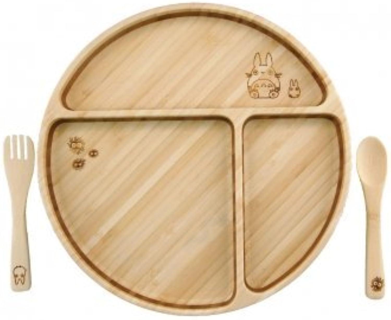 FUNFAM Mon Voisin Totor Plaque de (Ventilateur de Ventilateur) en Bambou Vaisselle Studio Ghibli Collaboration