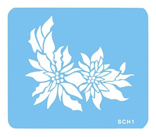 JEM kerstster sjabloon, kunststof, blauw, 15 x 1 x 15 cm