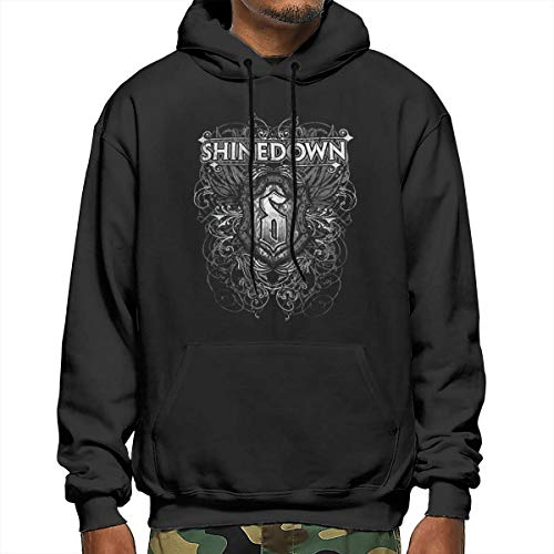 Men's Autumn Winter Long Sleeve Hoodies Sixtion FK Shinedown Tour Hooded Pockets Sweatshirt Tracksuits Black XXL