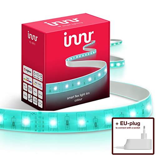 Innr Flex Light, 4m ruban lumineux LED connectée Couleur (pilotable via smartphone,...