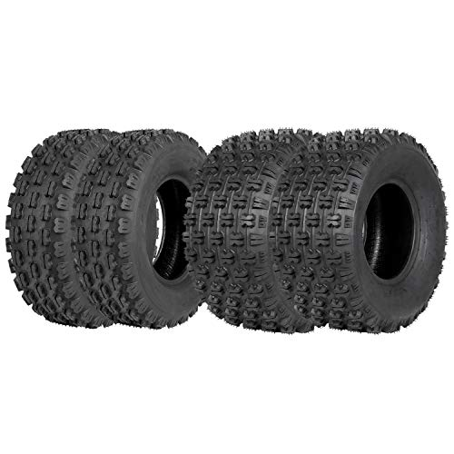 Weize Set of 4 Sport ATV UTV Tires 21x7-10 Front & 20x10-9 Rear, 4PR