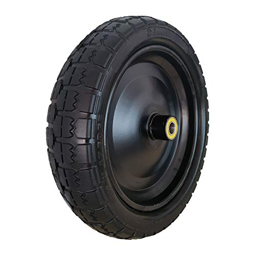 "SLT 13"" Flat Free Hand Truck Tire on Wheel Durable Replacement Tire Hand Truck/All Purpose Utility Tire on Wheel"