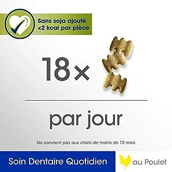 PERFECT FIT Soin dentaire quotidien - Friandises pour chat adulte au poulet, 6 x 55g
