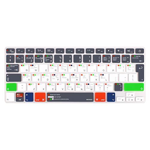 MOSISO Copertura Tastiera Compatibile con MacBook PRO 13 Pollic/15 Pollici(con/out Display Retina,2015/Versione Precedente), 2010-2017 MacBook Air 13 Pollici(A1369/A1466),Grigio per Mac OSX