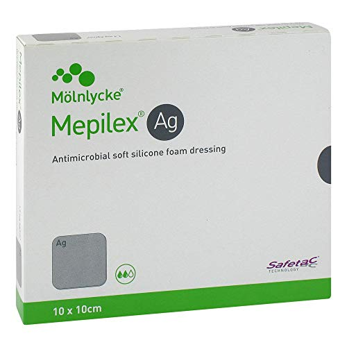 MEPILEX Ag Schaumverband 10x10 cm steril 5 St