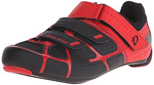 PEARL IZUMI Men's Select RD IV-M Cycling Shoe, Black/True Red, 40...