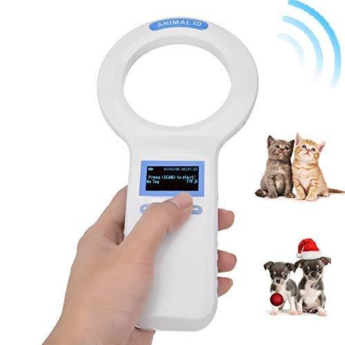 Smart ID Chip Tier-Lesegerät 134,2 kHz Chiplesegerät für Tiere, Handheld Mikro-Chip Tier-Chip Transponder für ISO11784 / 5 FDX-B Standard Tierchips Entsprechen