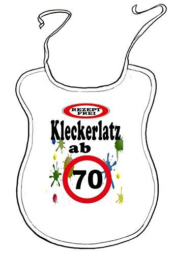Kleckerlatz Scherz-Latz für Erwachsene ab 70